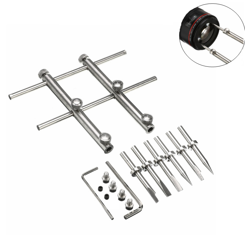 NEW Adjustable Camera Lens Spanner Wrench 3 Tips Flat Opening Open Repair Tool Set For Nikon Canon Sony Pentax Lens Remover