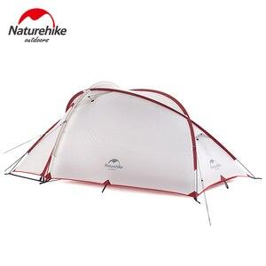 Image 2 - Палатка Naturehike Hiby Series туристическая, силиконовая нейлоновая ткань 20D, Ультралегкая для 3 человек, с свободным ковриком