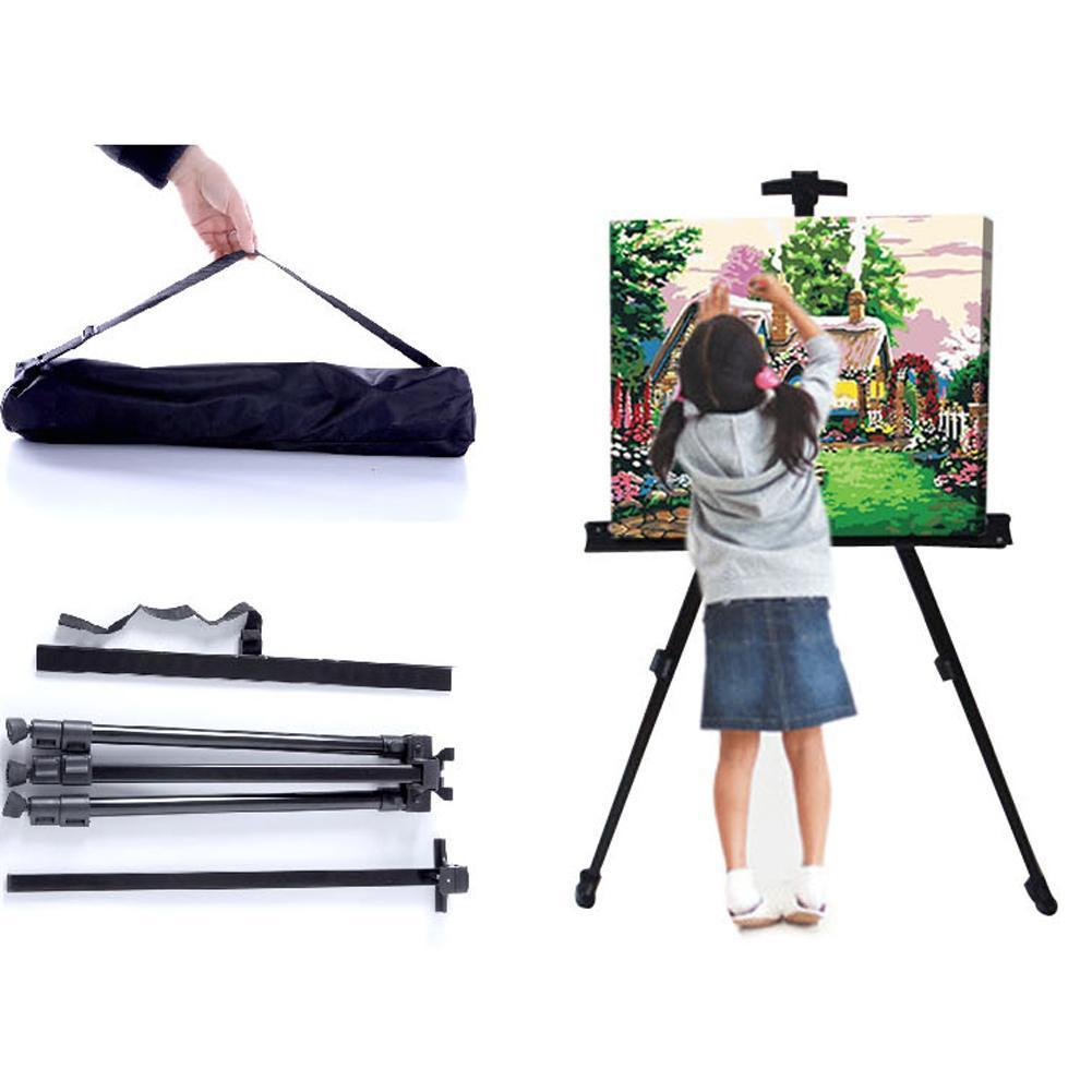 Portable Adjustable Metal Sketch Easel Folding Easel For Art Aluminum Easel Easel Drawing Sketch Supplies Travel Alloy Y3K3