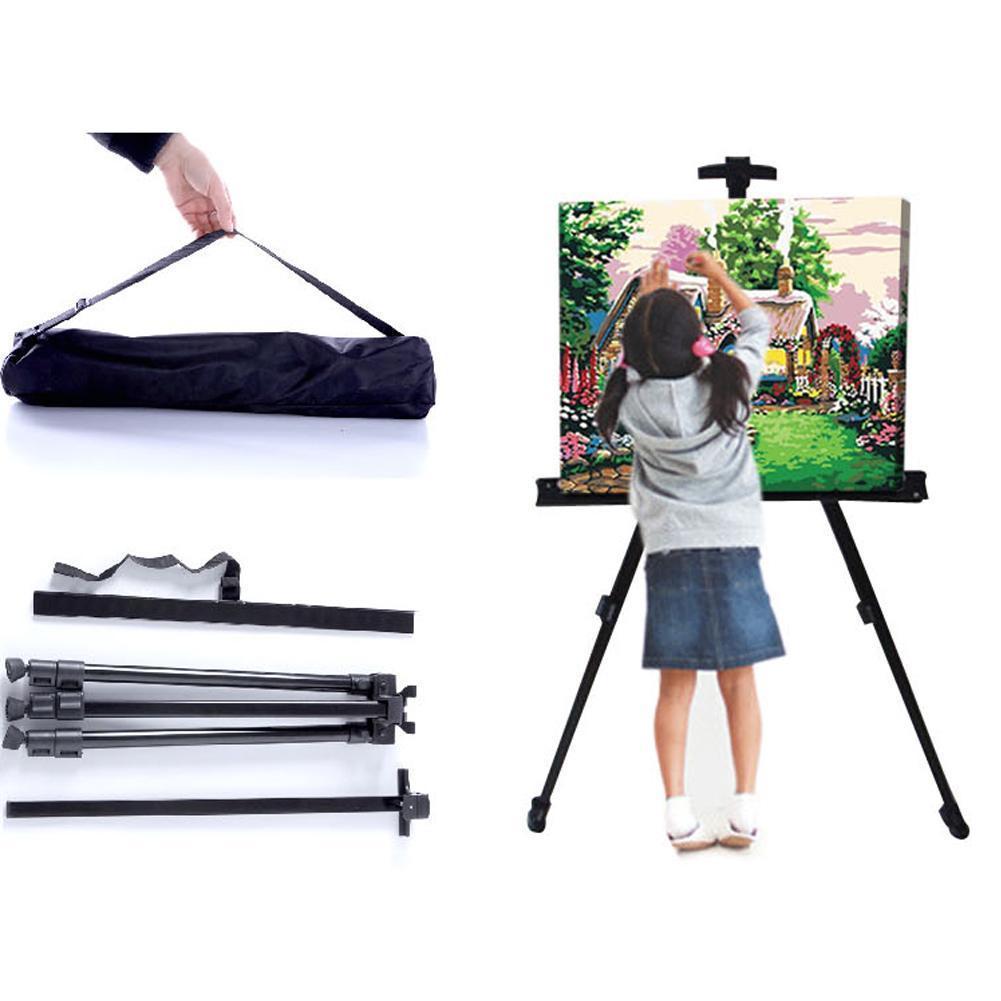 Portable Adjustable Metal Sketch Easel Folding Easel For Art Aluminum Easel Easel Drawing Sketch Supplies Travel Alloy Y3K3