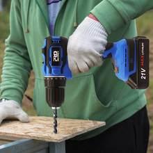 40NM 21V Brushless Furadeira Elétrica Aparafusadora sem fio Da Bateria 2000mAh Mini Poder Chave de Fenda Elétrica Broca Bit pcs PROSTORMER 5
