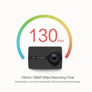 Image 2 - YI Lite экшн камера Sports 16MP настоящий 4K со встроенным WI FI 2 дюймов ЖК дисплей Экран 150 градусов Широкий формат линзы черного цвета