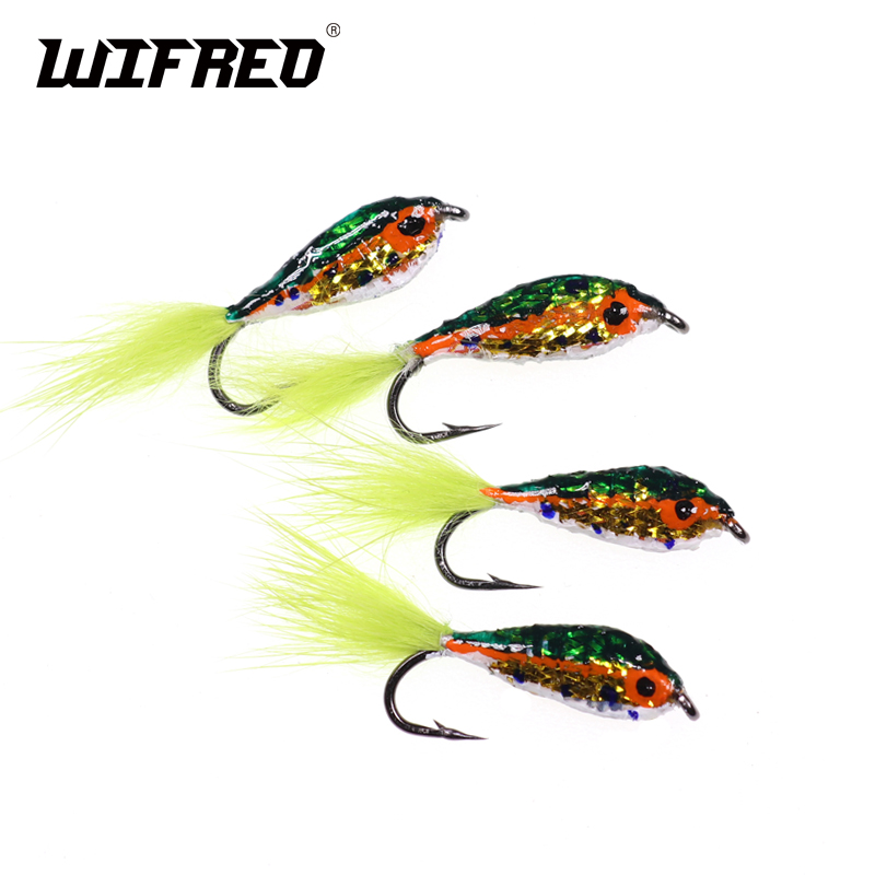 New 12pcs//set Tail Silver Streamer Minnow Fishing Flies Flying Fishing Lures BIN