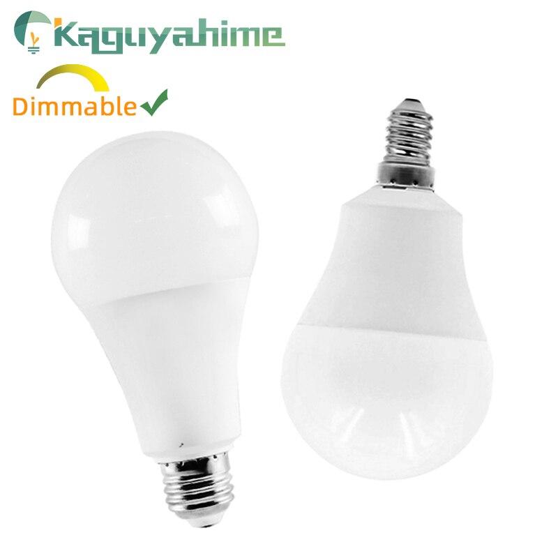 Kaguyahime Dimmable LED 3W~20W E14 E27 LED Lamp 220V LED Bulb 15W 12W 9W 6W 240V Spotlight Light Lampada Bombilla Ampoule LED