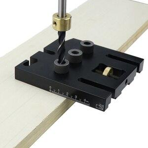 Image 5 - Многофункциональная Деревообработка набор направляющих для сверления дюбелей, регулируемый локатор направляющих для сверления мебели, инструменты для соединения столярных изделий