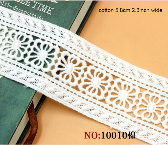 5 meter 3.15 8CM wide ivory stretch elastic ruffled double pleat lace trim ribbon fabric for dresstops M35H4 Free Ship
