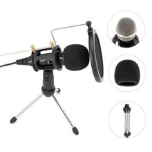 Metal Phone Condenser Microphone Mini Portable 3.5mm Phone Video Camera Interview Microphone With Muff For iPhone Samsung Mic