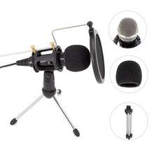 Micro à condensateur de téléphone en métal Mini Portable 3.5mm téléphone caméra vidéo entretien Microphone avec Muff pour iPhone Samsung micro