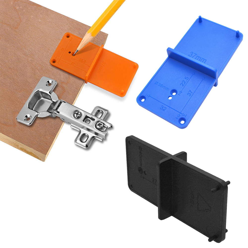 35mm 40mm Woodworking Punch Hinge Hole Drilling Guide Locator Hole Opener Drill Bit Hole Tools Door Cabinets Woodworking Tool
