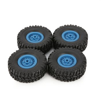 4pcs Rubber Wheel Rim Tire Tyre for RC 1/16 Climbing Crawler Car WPL B-1/B-24/C-14/C-24/B-16 Truck Part Spare Part Accessories