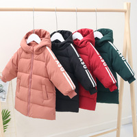 2019 Winter New Children Down Jackets Catamite Baby Male Girl Long Fund Down Jackets Baby Keep Warm Loose Coat