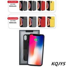 KQJYS Power Bank Back Cove Ultra Thin For iPhone XS Max XR Portable Back Clip Battery Charger Case For iPhone X XS Power Case