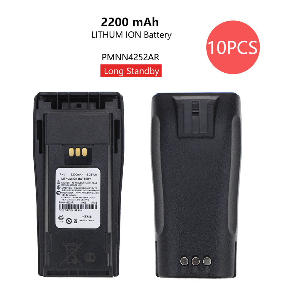 10 Pcs PMNN4252AR External Lithium Battery For Motorola CP040 CP140 DP1400 Walkie Talkie