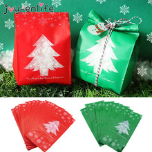 Xmas 60pcs Gift Bags Christmas Box New Year Plastic Candy Bag For Children Party Festive Decoration Supplies