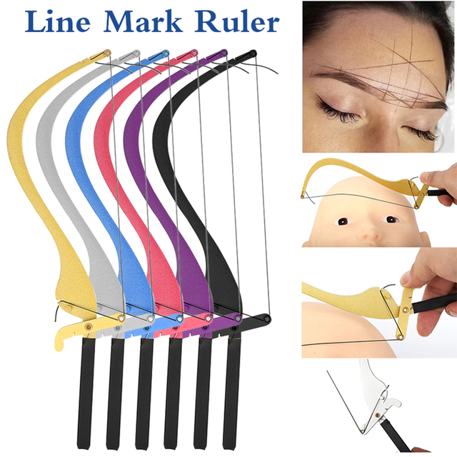 Microblading Measuring Tool Line Marker Ruler Eyebrow Threading Dyeing Liners Safe Semi Permanent Eyebrow Stencils Make Up