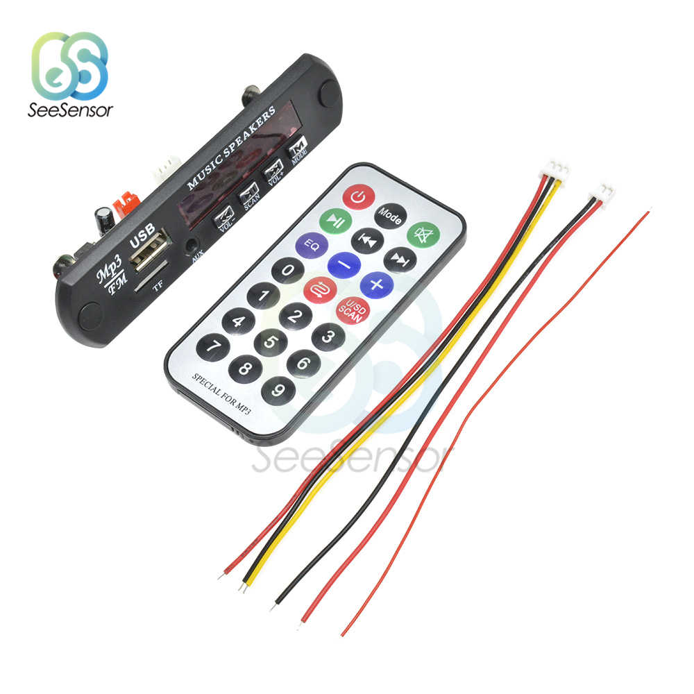 Wireless Mp3 Modulo Lettore USB AUX Audio Carta di TF Linea In fm Radio Mp3 Scheda di Decodifica Per Auto Con Telecomando lettore di controllo