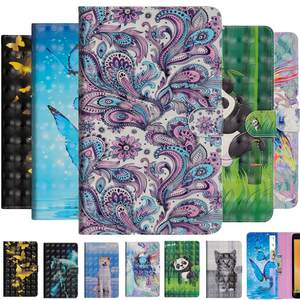 Painted-Case Tablet-Cover Card-Slot Huawei Mediapad KOB-L09 Flip-Stand-Protector Cartoon