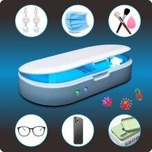Lampa UV sterylizator pojemnik do dezynfekcji telefon Sanitizer z bezprzewodową ładowarką funkcja aromaterapii