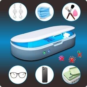 Image 1 - Stérilisateur à lampe UV, boîte de désinfection, désinfectant pour téléphone, avec chargeur sans fil, fonction daromathérapie