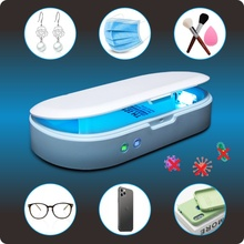UV Lampe Sterilisator Desinfektion Box Telefon Sanitizer mit Drahtlose Ladegerät Aromatherapie Funktion