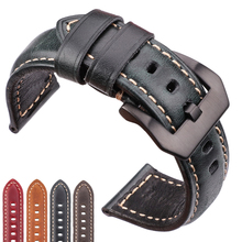цена на Watch Accessories Cowhide Watchband 20mm 22mm 24mm 26mm Women Men Genuine Leather Wach Band Strap Steel Buckle For Panerai