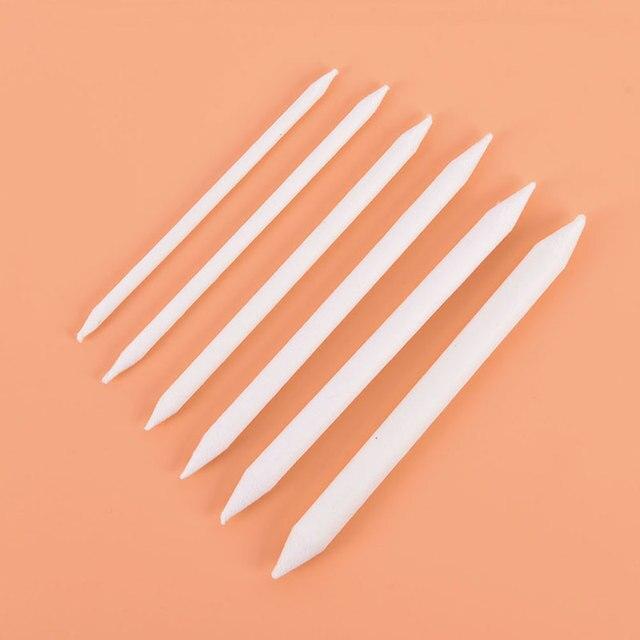 Offre spéciale 6 pièces mélange tache souche bâton Tortillon croquis Art blanc dessin stylo outil riz papier Art fournitures