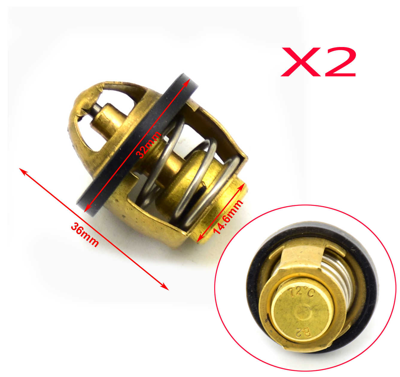 kesoto Replacement ATV Thermostat for Cfmoto CF500 X5 X6