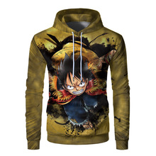 Bodyguard Men's Japanese Anime New One Piece Navigation 3d Hooded Pullover Anime Trend Bodyguard