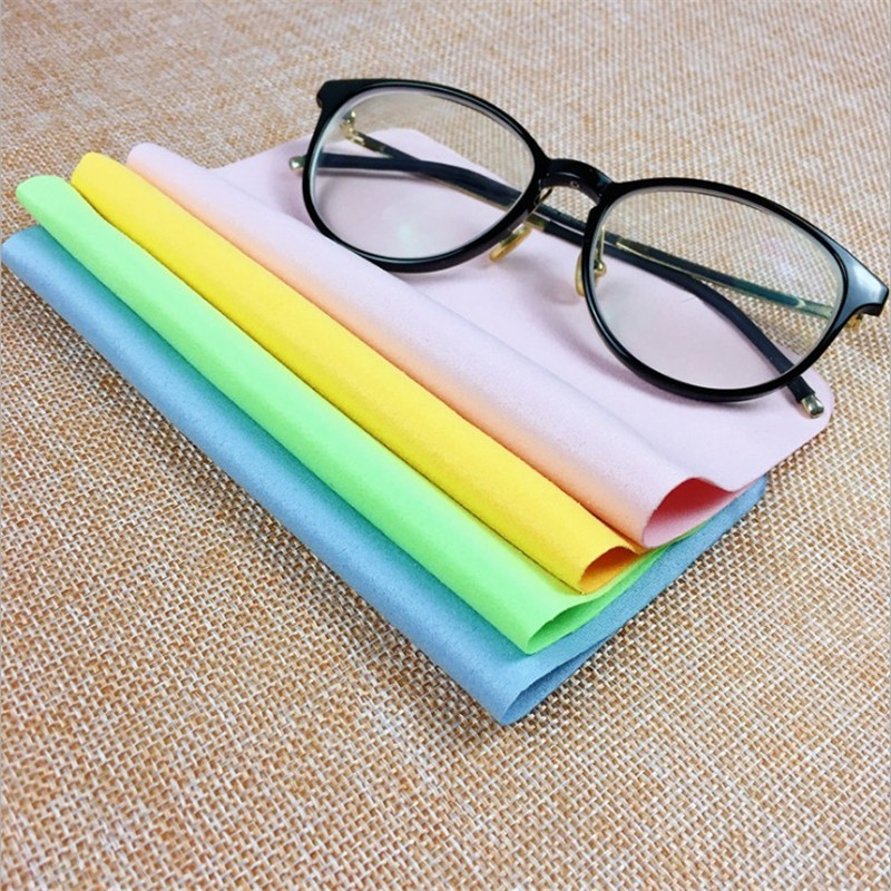 5Pcs Soft Chamois Glasses Cleaner Eyeglasses Microfiber Clean Cloth for Lens Phone Screen Cleaning Wipes Tools 3
