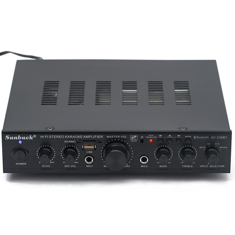 220V 5.1 Channel 300W High Power Bluetooth USB SD FM Remote Control Karaoke Audio Amplifier