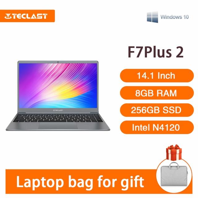 Teclast F7 Plus 2 Laptop 14.1 Inch Notebook Windows 10 1920 x 1080 Intel Gemini Lake N4120 Quad Core 1.1 GHz 8 GB RAM 256 GB SSD 1