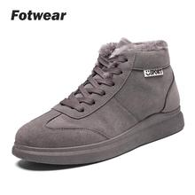 Men boots Mens Winter Shoes Fashion Snow Boots Plus Size Sneakers Ankle Black Red Footwear