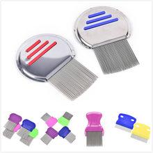 5 estilos de aço inoxidável terminator piolhos pente crianças cabelo livrar headlice super densidade dentes remover lêndeas pente nit livre