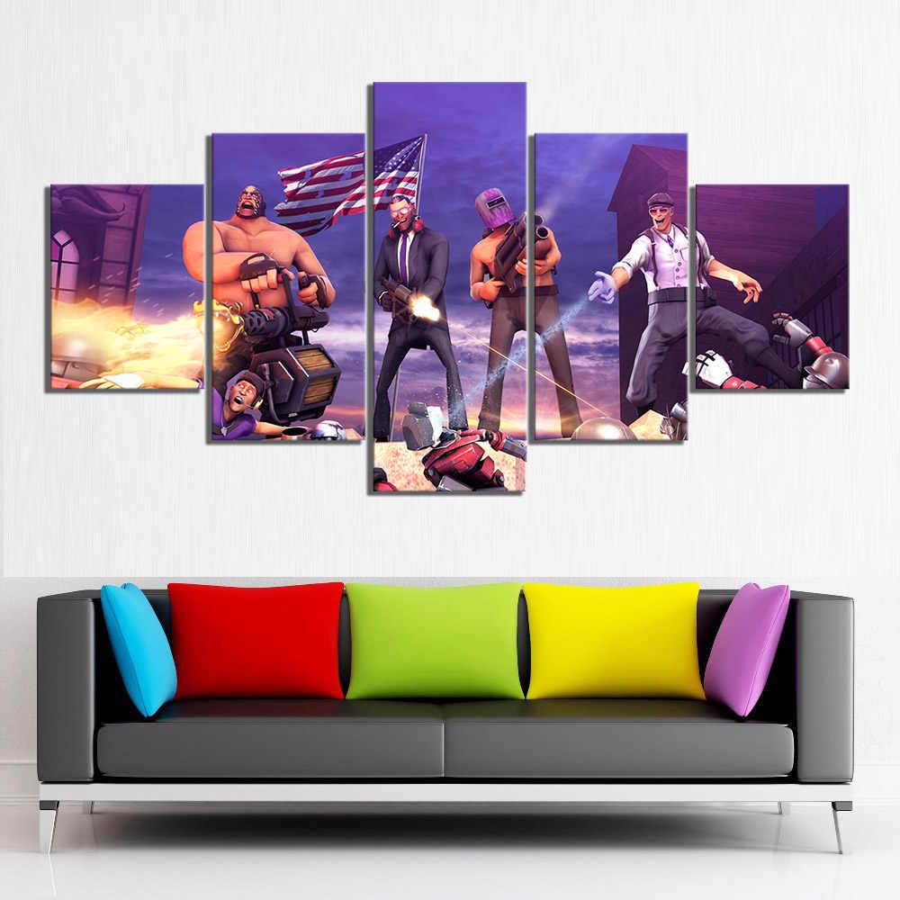 5 peça hd desenhos animados imagem jogos arte imprimir santos linha 4 poster jogos de vídeo arte da lona pinturas para decoração casa arte da parede