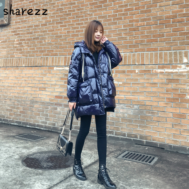 Women Winter Jacket 2019 New Ultra Light White Down Cotton   Parka   Women Long Jacket Zipper Black Windproof Women Jacket Outwear