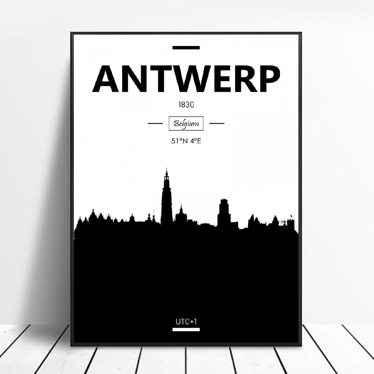 Antwerp Art Canvas Poster Home Decoration Painting No Frame