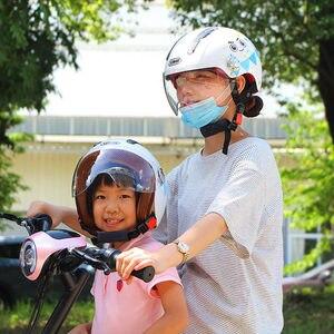 Image 4 - Kids Motorhelm Enfant Scooter Helmen Chopper Leuke Cascos Kinderen Fiets Casco Moto Gepersonaliseerde Capacete Voor Jongens Meisjes