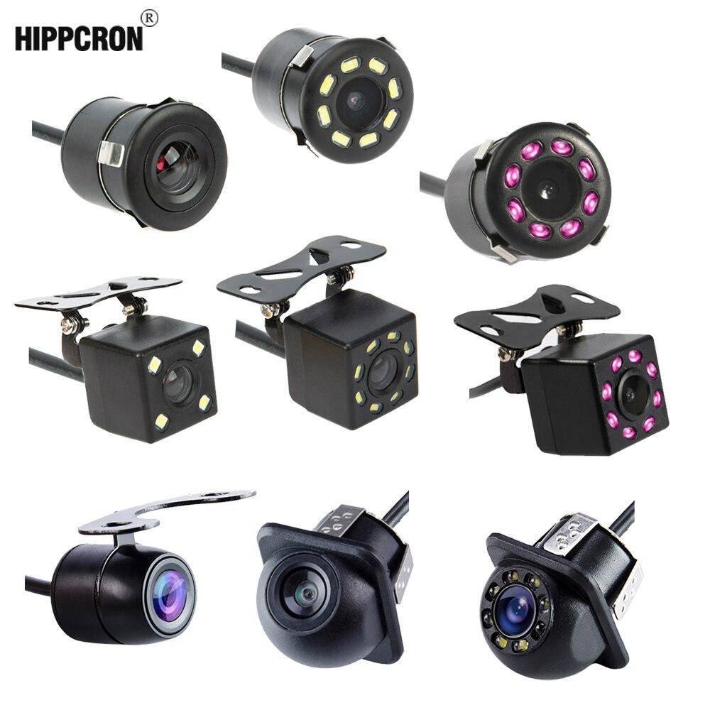 Камера заднего вида Hipppcron автомобильная, камера с зарядовой связью, 4 светодиодами, ночным видением, монитором для парковки задним ходом, водонепроницаемая камера с обзором 170 градусов и видеоформатом HD
