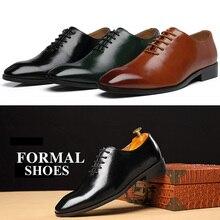 2020 Men Shoes Business Suit Men Formal Dress Shoes Loafers Party Wedding Oxfords Big Size