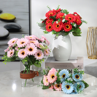 Künstliche blumen silk schöne daisy sonne 7 köpfe bouquet hause balkon garten DIY party hochzeit wohnzimmer dekoration blume