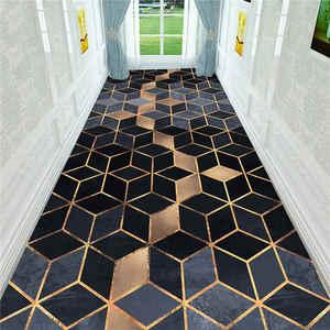 Nordic 3D Stereo Printing Corridor Carpet Area Rugs Living Room Carpets Kitchen Bathroom Anti-skid Floor Mat for Home Decorative