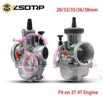 Carburador ZSDTRP de Keihin 28 33 35 36 38mm, Carburador PWK para motocicleta, Carburador 2T/4T