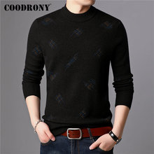 COODRONY Brand Sweater Men 100% Merino Wool Pullover Men Thick Warm Winter Turtleneck Sweaters Knitted Cashmere Pull Homme 93030 coodrony brand sweater men 100