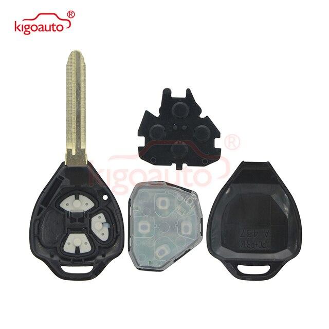 Фото kigoauto дистанционный ключ с 3 кнопками лезвие toy43 434 мгц