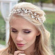 1Meter DIY Wedding Bridal Rhinestone Headband Tiara Hair Chain Crystal Headpiece