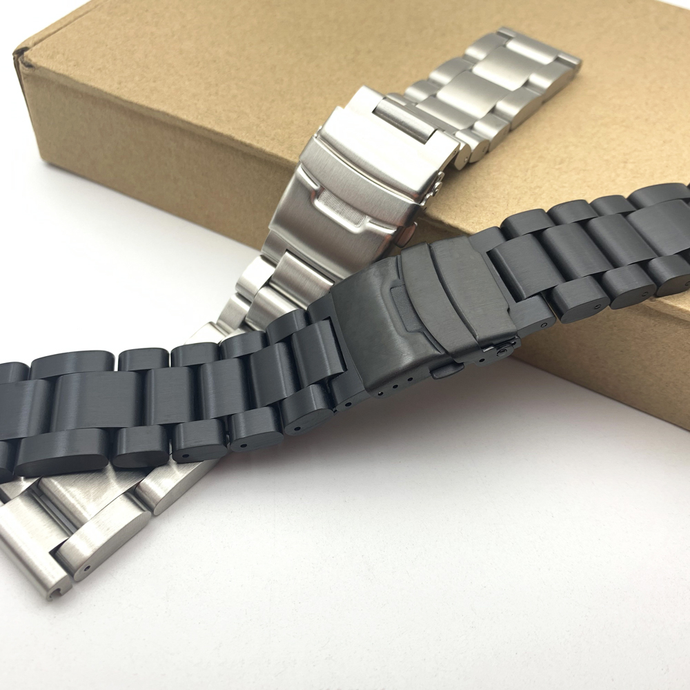 Thickening 5.5mm 22mm 24mm 26mm Solid stainless steel watchband <font><b>bracelet</b></font> watches Strap Band Accessories For <font><b>PAM</b></font> +Tool image