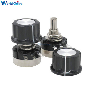 RV24YN20S 1K 2K 5K 10K 20K 50K 100K 200K 500K 1M ohm B102 B202 Single Turn Carbon Film Rotary Taper Potentiometer with A03 knob