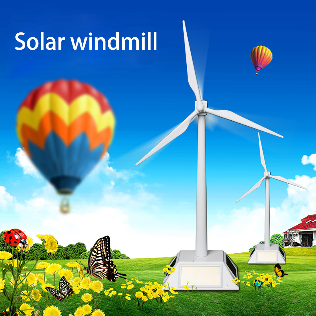 HIINST Solar Windmill Rotating Fan Model Puzzle Diy Assembled Environmental Gift Solar Novelty Toys Early Learning Gift&TOYS