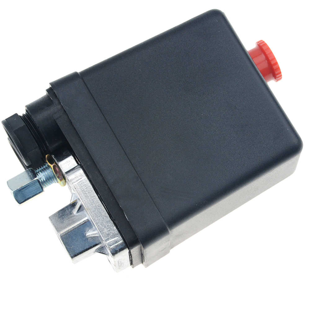 "1/4 ""Biasanya Ditutup 220/380V 20A 90-125PSI Tekanan Kompresor Udara Control Switch Valve Plastik Shell"