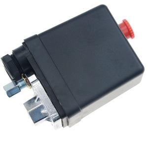 "Image 5 - 1/4 ""normalde kapalı 220/380V 20A 90 125PSI hava kompresörü basınç kontrol anahtarı vana plastik kabuk"